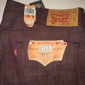 Levi's 501 original fit raw denim men's 44x32 NWT